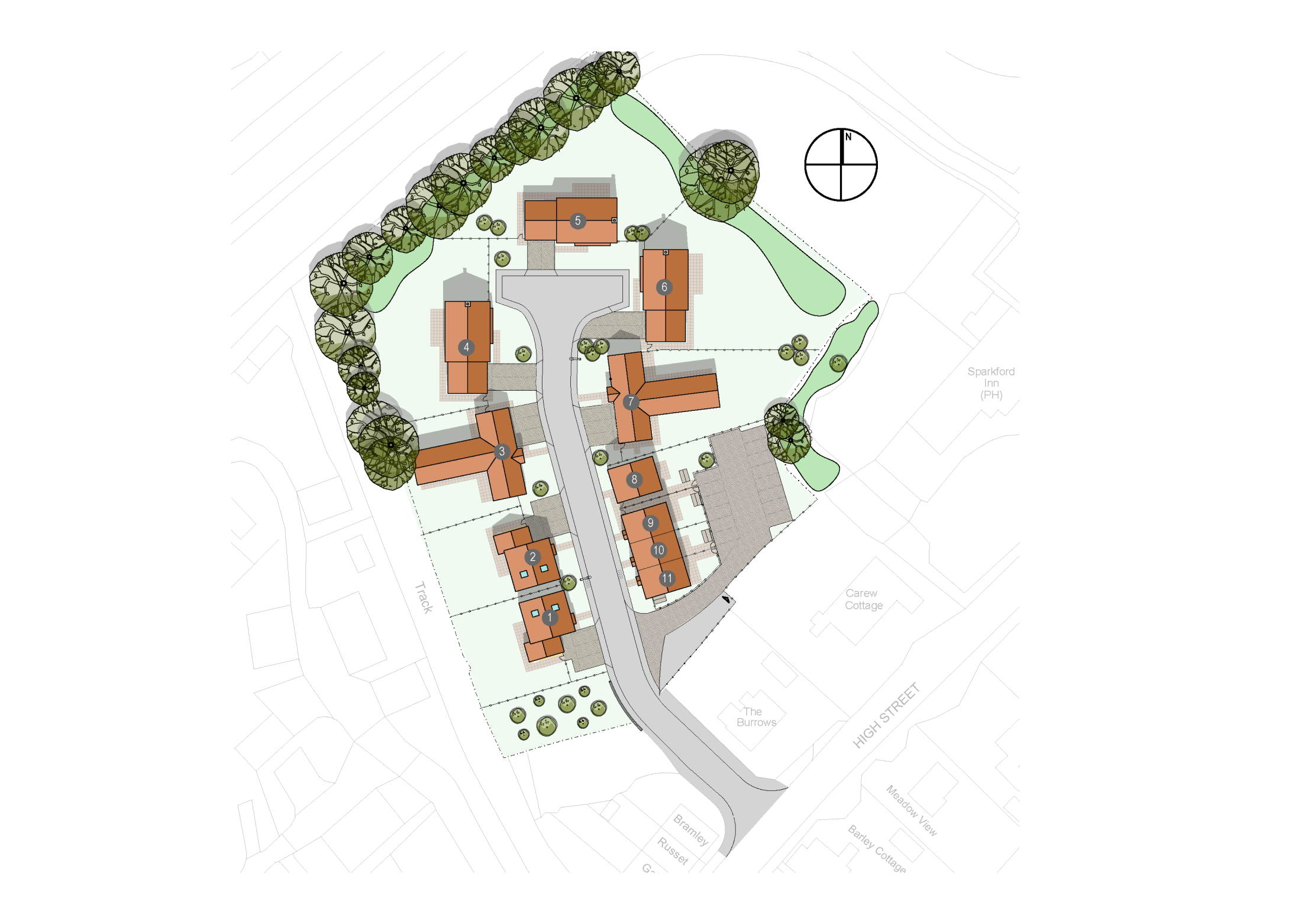The Burrows site plan